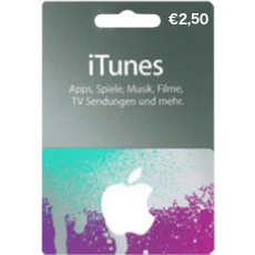 2,50 Euro iTunes Gift card