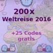 200x Weltreise 2016 + 25x Weltreise 2016 Bonus
