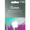 7,50 Euro iTunes Gift card