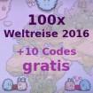 100x Weltreise 2016 + 10x Weltreise 2016 Bonus